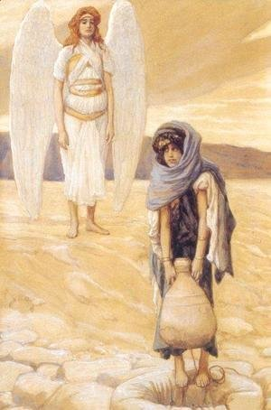 James Jacques Joseph Tissot - Hagar and the Angel in the Desert 1896-1900