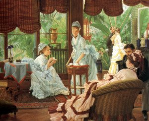 James Jacques Joseph Tissot - In the Conservatory (Rivals) (2)  1875-78