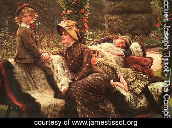 James Jacques Joseph Tissot - Le Banc de Jardin (The Garden Bench) 1882