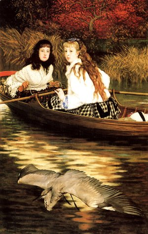James Jacques Joseph Tissot - On the Thames- A Heron 1871-72