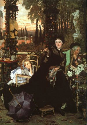 James Jacques Joseph Tissot - Une Veuve (A Widow) 1868