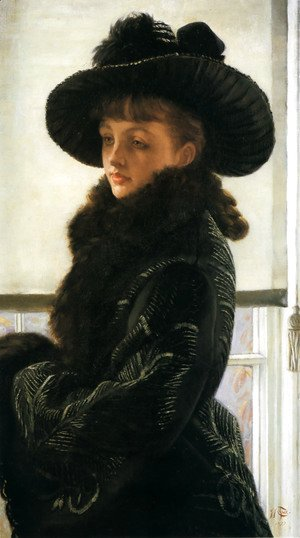James Jacques Joseph Tissot - Mavourneen (or Portrait of Kathleen Newton)