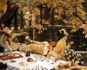 James Jacques Joseph Tissot - Holyday (or The Picnic)