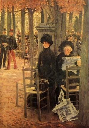 James Jacques Joseph Tissot - Without a Dowry aka Sunday in the Luxembourg Gardens
