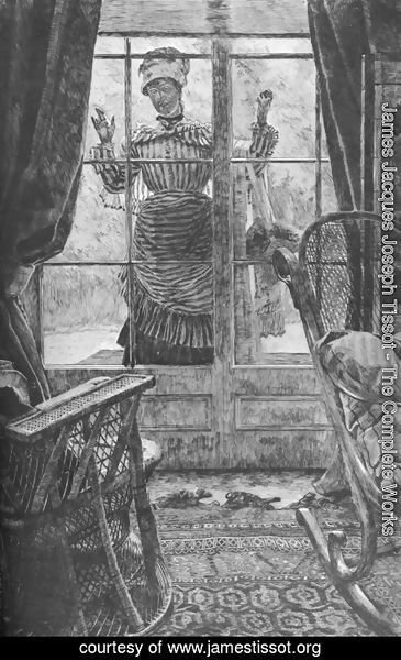 James Jacques Joseph Tissot - Femme à la fenêtre (Woman at a Window)