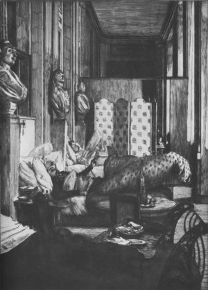 James Jacques Joseph Tissot - Le foyer de la Comédie-Fraçaise pendant le siège de Paris (The Green Room of the Theatre Français (Souvenir of the Siege of Paris))