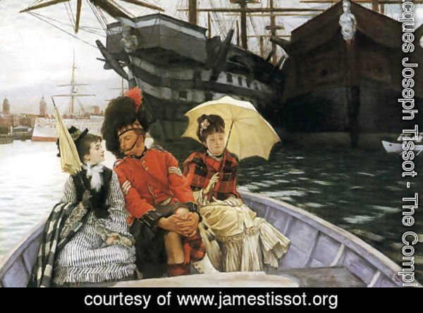 "James Jacques Joseph Tissot - Portsmouth Dockyard (or ""How happy I could be with either"")"
