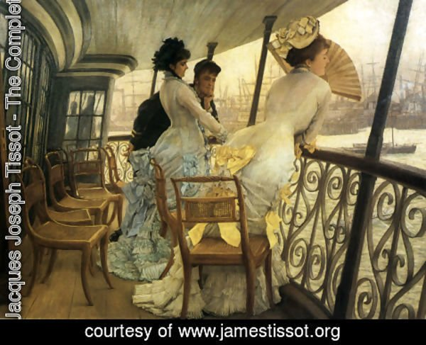 James Jacques Joseph Tissot - The Gallery of H.M.S. 'Calcutta' (Portsmouth)