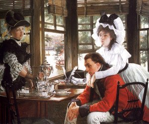 James Jacques Joseph Tissot - Bad News (or The Parting)