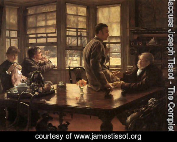 James Jacques Joseph Tissot - The Prodigal Son in Modern Life: The Departure