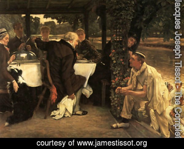 James Jacques Joseph Tissot - The Prodigal Son in Modern Life: The Fatted Calf