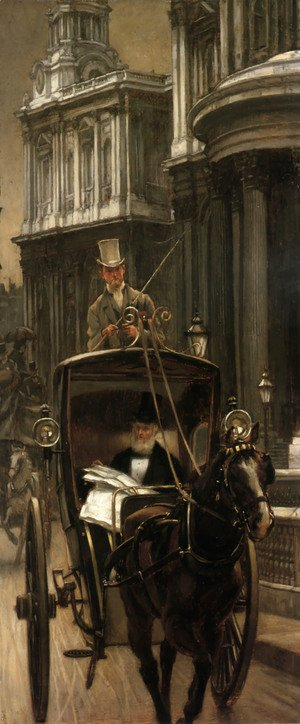 James Jacques Joseph Tissot - Going to Business (or Going to the City)