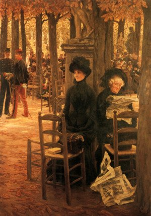 James Jacques Joseph Tissot - Letter 'L' with Hats