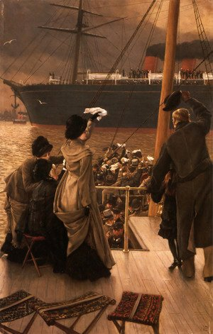 James Jacques Joseph Tissot - Goodbye, on the Mersey