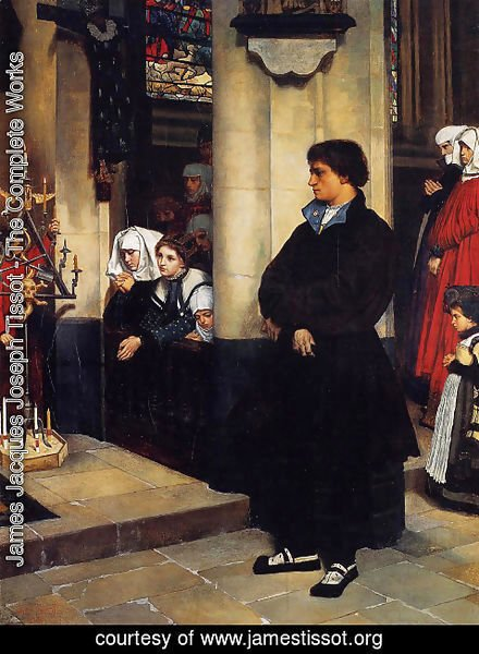 James Jacques Joseph Tissot - During the Service (or Martin Luther's Doubts)