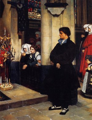 During the Service (or Martin Luther's Doubts)