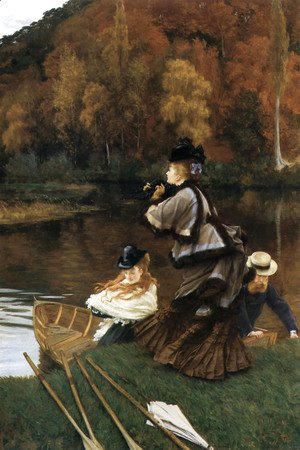 James Jacques Joseph Tissot - Autumn on the Thames (or Nuneham Courtney)