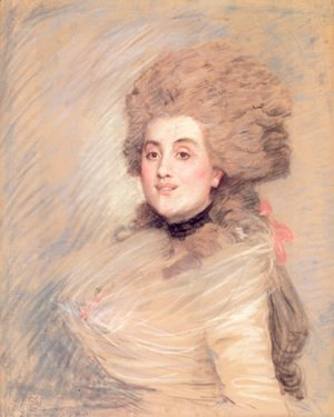 James Jacques Joseph Tissot - Portrait of an Actress in Eighteenth Century Dress