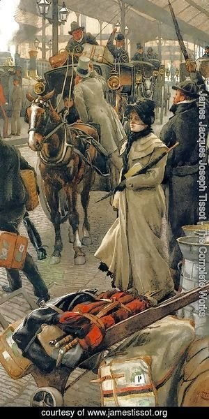 James Jacques Joseph Tissot - The Departure Platform, Victoria Station