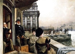 James Jacques Joseph Tissot - TheTerrace Of The Trafalgar Tavern, Greenwich, London
