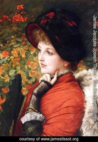 James Jacques Joseph Tissot - Type Of Beauty (or Kathleen Newton)