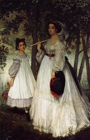 James Jacques Joseph Tissot - The Two Sisters; Portrait