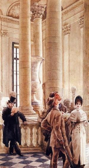 James Jacques Joseph Tissot - At the Louvre 2