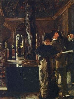 James Jacques Joseph Tissot - Foreign Visitors at The Louvre