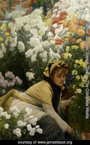 James Jacques Joseph Tissot - Chrysanthemums