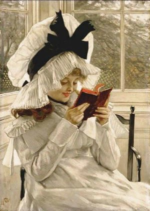 James Jacques Joseph Tissot - Reading a Book