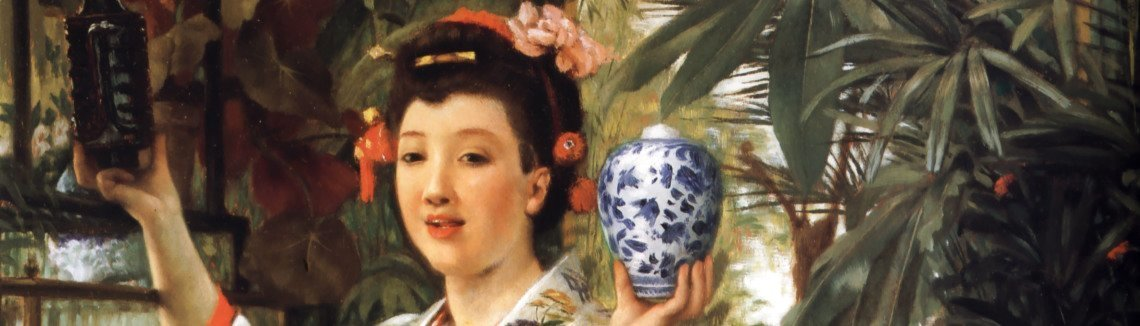 James Jacques Joseph Tissot - The Japanese Vase