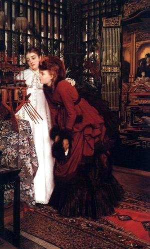 James Jacques Joseph Tissot - Young Ladies Looking at Japanese Objects 2