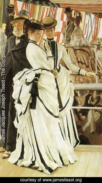 James Jacques Joseph Tissot - The Ball on Shipboard (detail)