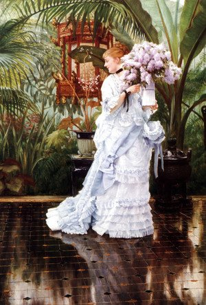 James Jacques Joseph Tissot - The Bunch of Lilacs