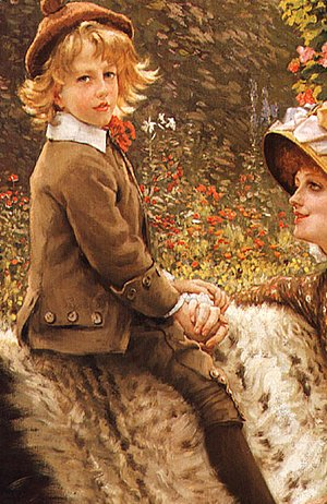 James Jacques Joseph Tissot - The Garden Bench (detail 2)