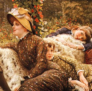 James Jacques Joseph Tissot - The Garden Bench (detail)