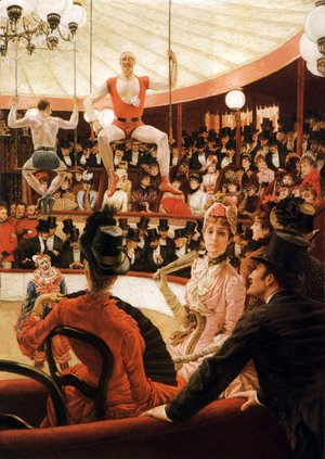 James Jacques Joseph Tissot - Women of Paris, The Circus Lover