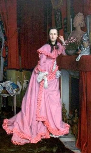 James Jacques Joseph Tissot - Portrait of the Marquise de Miramon nee Therese Feuillant