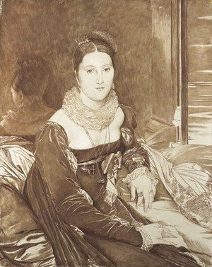 James Jacques Joseph Tissot - Portrait of Vicomtesse de Senonnes