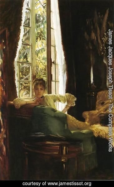 James Jacques Joseph Tissot - Study For 'Le Sphinx' (Woman In An Interior)