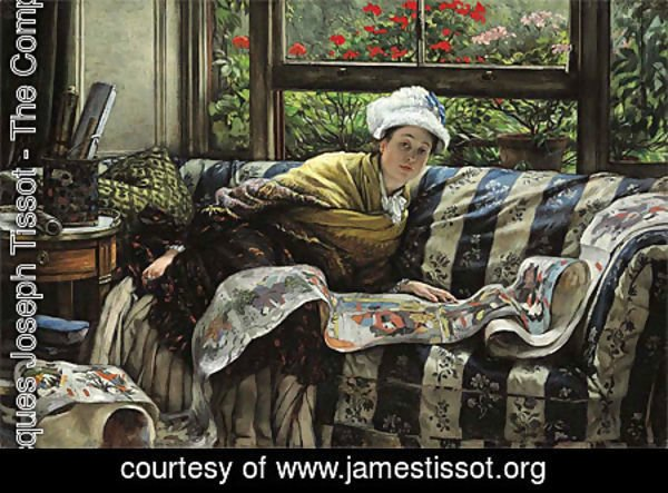 James Jacques Joseph Tissot - The Japanese Scroll