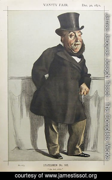 Caricature of William Henry Gregory