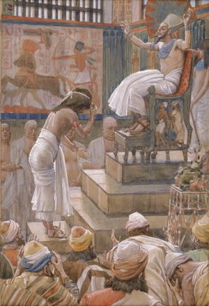 James Jacques Joseph Tissot - Joseph and His Brethren Welcomed by Pharaoh