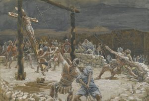 James Jacques Joseph Tissot - The Raising of the Cross (L'elevation de la Croix)