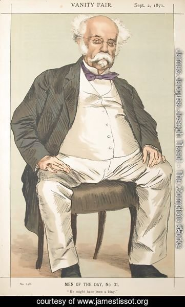 James Jacques Joseph Tissot - Men or Women of the Day No.310 Caricature of The Duke of Saldanha