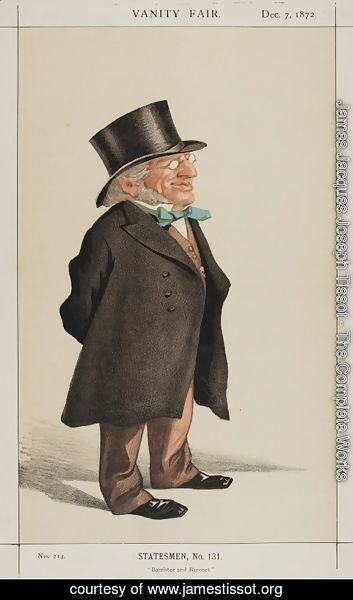 James Jacques Joseph Tissot - Statesmen No.1310 Caricature of Sir Francis Goldsmid M.P.