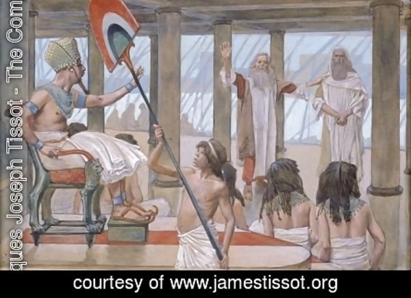 James Jacques Joseph Tissot - Moses Speaks to Pharaoh