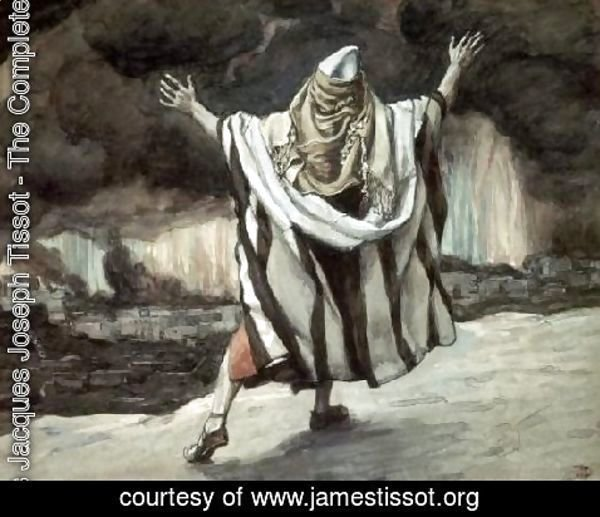 James Jacques Joseph Tissot - Abraham Sees Sodom in Flames