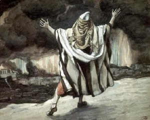 Abraham Sees Sodom in Flames