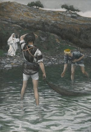 James Jacques Joseph Tissot - The Calling of Saint Peter and Saint Andrew (Vocation de Saint Pierre et Saint Andre)